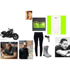 Juice's old lady <3 going for a ride #9 by patricklovesniallandkevin on Polyvore featuring rag & bone, 7 For All Mankind, Harley-Davidson and Forum