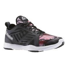Reebok Women s Cardio Inspire Low 2.0 Training Shoes - Black Pink Pattern 3e2a5646d