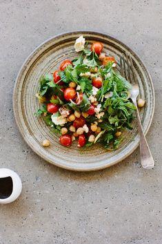 Chickpea, Tomato, and Feta Salad With Pomegranate-Molasses Dressing