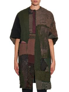 By Walid Opera vintage patchwork Chinese-silk coat