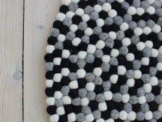 Nepaldo kugletæppe - er netop bestilt i 90 cm med 15% rabat.