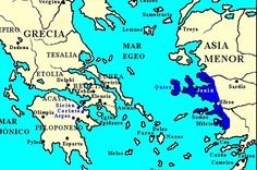 Asia Menor, Jonia actuales costas turcas. Los filósofos griegos han considerado que la filosofía nace con Tales de Mileto allá por el siglo VII a.n.e, pero no se consideraba necesario explicar cómo se había producido ese surgimiento de una nueva forma de pensamiento.