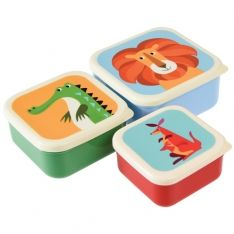Snack Dosen Set Colourful Creatures Bunte Tiere