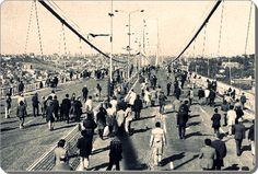 İstanbul, Boğaziçi köprüsü açılışı - 1973 (✿ ❤ daha dünmüş gibi hatırlıyorum :)30 Ekim 1973)