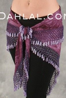 Egyptian WIDE-ROW CROCHETED SCARF, for Belly Dance