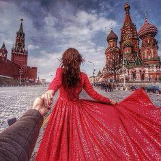 Murad Osmann muradosmann: #followmeto the Kremlin in Moscow with @Rachel Ward. Testing the new Sony a7r camera. Built-in Wi-Fi is a great tool :).
