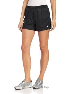 Add fun to your wardrobe with this essential mesh short by Champion. Product Features Foldover elastic waistband with Champion script logo Breathable mes Athletic Outfits, Athletic Shorts, Champion Brand, Champion Logo, Active Wear For Women, Workout Shorts, Running Shorts, Skort, Bikini Bottoms