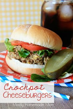 Ground beef slow cooks in a tangy, cheesy sauce. Top with your favorite burger toppings!