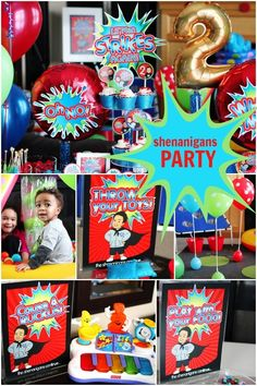 A Boy's Shenanigans themed birthday party -- #birthday #party #partyideas #kidsparty