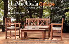Muebles de jardin Ecomadera Para conocer los precios visita el catalogo online: Lamuebleriaonline.com.ar