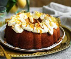 Lemon cake with mascarpone frosting recipe - By Australian Women's Weekly Lemon Dessert Recipes, Lemon Recipes, Easy Desserts, Cake Recipes, Orange Recipes, Party Recipes, Pie Cake, No Bake Cake, Mascarpone Frosting Recipe