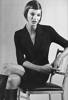 Linda Evangelista in Dolce Gabbana