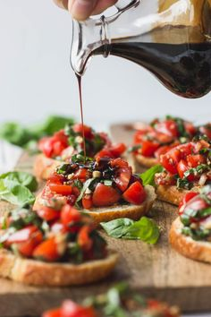 recette bruschetta aux tomates et vinaigre balsamique