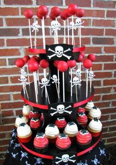 pirate themed cupcakes and cake pops