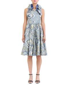 Kreyol Printed A-Line Dress | Nineteenth Amendment