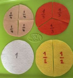 Aprender fracciones. Método Montessori DIY