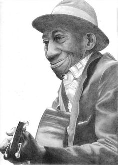 Mississippi John Hurt Country Blue, American Country, Jazz Blues, Blues Music, Guitar Painting, Any Music, Music Images, Jazz Musicians, Types Of Music