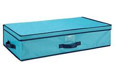 Underbed Storage Box, Turquoise on OneKingsLane.com