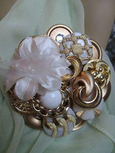 Button Brooch