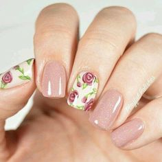 Attractive Rose Nail Art Designs Ideas For Summer Rose Nail Art, Floral Nail Art, Rose Nails, Flower Nails, Gel Nails, Acrylic Nails, Stiletto Nails, Coffin Nails, Do It Yourself Nails