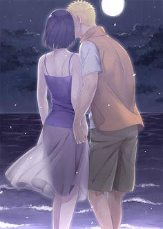 Naruto and Hinata by Sakura Jam. I love this art!