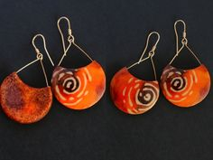 I was trying to invent faux batik on polymer clay. These are my favorite.