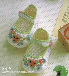 Pretty shoes with diagrams #inspiration_crochet #diy GB