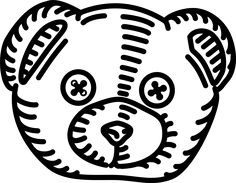 Baby, Bear, Head, Ours, Outlines, Teddy, Toy, Tête