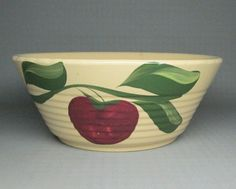 WATT POTTERY apple bowl number 601 by jumpinacrater on Etsy