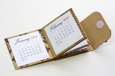 Mini Fold Book/Calendar - bjl