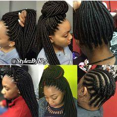 Dread Braids, Dread Braid Styles, Dreadlocks, Box Braids Hairstyles, Girl Hairstyles, Crochet Twist Hairstyles, Black Hairstyles, Hairstyle Braid, Hairstyle Ideas