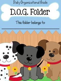 Folder {Daily Organizational Guide} Parent Communication Tool Do you use a parent communication folder in your classroom? These cute dog themed folder covers are a cute way to keep your students organized throughout the school year. Classroom Behavior, New Classroom, Classroom Design, Kindergarten Classroom, Classroom Themes, Classroom Organization, Take Home Folders, Parent Communication, School Themes
