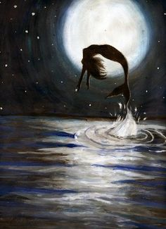 Mermaid jumping for Joy