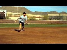 Third baseman Ryan Roberts of the Arizona Diamondbacks provides step-by-step instruction for properly fielding a ground ball in the infield and making an accurate throw to first base.