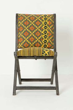 Anthropologie - Overdyed Terai Chair, Citrine 4 of these one side of the table, bench on the other