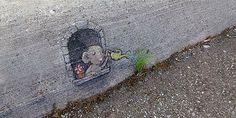 """20 απίθανα graffiti """"παίζουν"""" με την φύση Graffiti, Street Art, Animals, Animales, Animaux, Animais, Graffiti Artwork, Animal, Street Art Graffiti"""