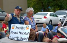 Bob and Darlene Ebeling, Grand Marshalls of the Peach Days Parade, Brigham City, 2013. USFWS Bear River Migratory Bird Refuge, Utah. Photo: Jennifer Bunker