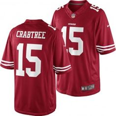 San Francisco 49ers Nike NFL Michael Crabtree #15 Limited Jersey (Red)