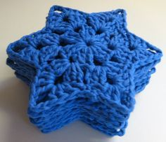 Six-Point Star Motif By magnoliasntea - Free Crochet Pattern - (foothillsofthegreatsmokymountains.blogspot)