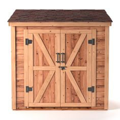 This Leisure Season Medium Brown Cedar Lean-To Shed is a great solution for housing your extra items that will help organize your yard and garden. Wood Storage Sheds, Garden Storage Shed, Wood Shed, Built In Storage, Bike Storage, Garden Sheds, Outdoor Storage, Cedar Roof, Cedar Siding