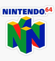 'Nintendo 64 Vaporwave Logo' Sticker by leboi Nintendo 64 Games, Logo Sticker, Sticker Design, Video Game Logos, Classic Video Games, Xbox One S, Transparent Stickers, Vaporwave, Stickers
