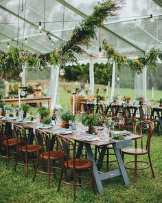 """Tented wedding reception 