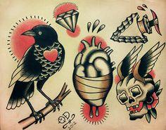 Traditional Tattoo Designs. $18,99, via Etsy.
