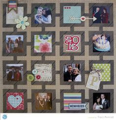 Remembering 2013 | Scrapbook Layout | Silhouette America Blog