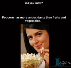 Popcorn has more antioxidants than fruits and vegetables truth popcorn cool facts interesting facts omg facts did you know? Wtf Fun Facts, True Facts, Random Facts, Crazy Facts, Mind Blowing Facts, Did You Know Facts, Food Facts, The More You Know, Health Facts