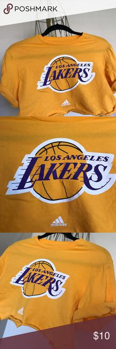 Vintage Los Angeles Lakers Custom Crop Tee! Vintage Los Angeles Lakers Custom Crop Top! Pair with high waisted jeans or leggings or even add a pair of heels or booties for a sporty/ chic look. :) adidas Tops Crop Tops