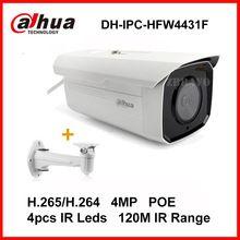 Dahua Sieťová kamera H.265 4MP IPC-120M HFW4431F Night Vision EXIRA Bullet IP kamera s PoE IP67 DH-IPC-HFW4431F s držiakom (Čína (pevninská časť))