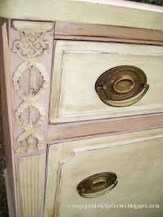 dark wax on the Antoinette and Old White Chalk Paint™ - this is gorgeous!