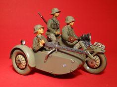 Elastolin Hausser Motorrad mit MG im Seitenwagen 7,5 cm Maßstab | eBay