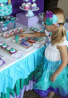 The Little Mermaid Birthday Party head band for delilah Little Mermaid Birthday, Little Mermaid Parties, The Little Mermaid, Princess Birthday, Princess Party, 3rd Birthday Parties, Birthday Ideas, Party Ideas, Party Party